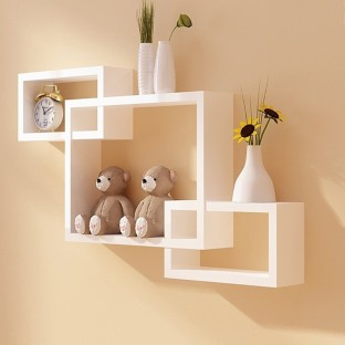 7CR Multi  KH 10 Wooden Wall Shelf
