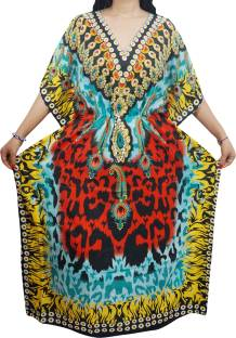 Indiatrendzs Printed Light Visose Women Kaftan