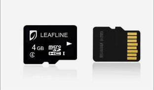 Leafline SDHC 4  GB MicroSDHC Class 4 10 MB/s  Memory Card available at Flipkart for Rs.390
