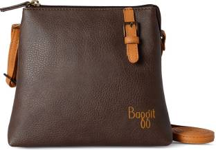 Baggit Women Brown Leatherette Sling Bag