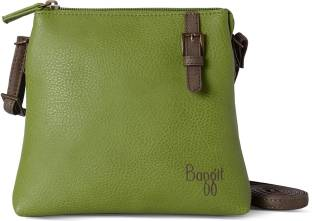 Baggit Women Green Leatherette Sling Bag