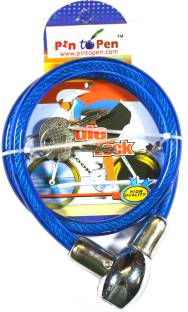 Pin to Pen Steel, Plastic Cable Lock For Helmet