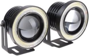 2 X 3.5 COB LED Fog Light Projector Car Auto White Angel Eyes Halo Ring DRL Lamp