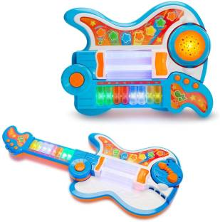 d03fd54f6 Toys Bhoomi 4-in-1 Musical Learning Educational Guitar Piano Drum Projector  with Colorful