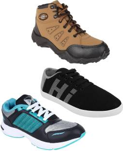 d4e9c99b9 Chevit Men s Combo Pack Of 3 Casual Running Shoes With Outdoors For Men