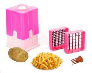 d0a3d6eae6b super Classic Potato French Fries Cutter Plastic Grater (Pink) Chopper