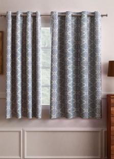 Flipkart SmartBuy Polyester Light Blue Motif Eyelet Window Curtain & Curtains - Buy Door Curtains | Window Curtains Online - Flipkart.com Pezcame.Com