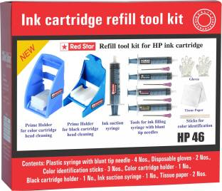 Red Star ink refill tool kit for hp 46 cartridge Multi Color Ink Cartridge