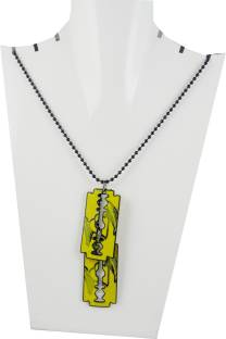 Estore scorpion pendant with chain necklace metal locket price in estore yellow blade double pendant with chain necklace metal locket altavistaventures Image collections