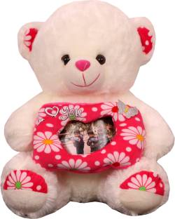 0753ee1a6ea Skylofts Imported 45cm Personalised Teddy Bear with your photo inside the  rectagular frame - 40 cm