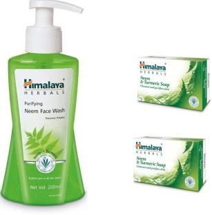 Himalaya Herbals Neem & Turmeric Soap, Purifying Neem Face Wash, Neem & Turmeric Soap