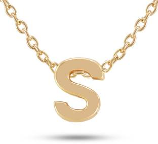 Fabfashion S Letter Pendant Alphabet With Chain For Men Women Gold Plated