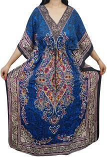 Indiatrendzs Printed Viscose Women Kaftan