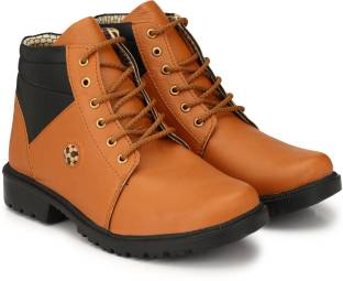 OLADIN Mens Synthetic Leather Ball Boots For Men