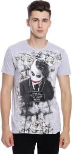 EMOJI Printed Men's Round Neck Black T-Shirt - Buy EMOJI