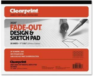 Clearprint Fade Out Design And Sketch Vellum Grid Rolls 10 X 10 30