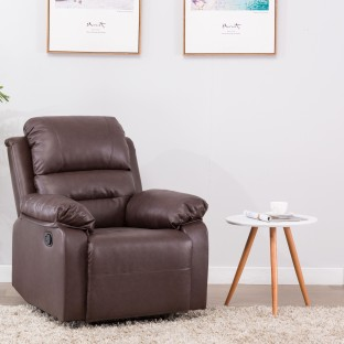 Delightful Perfect Homes By Flipkart Wayne Single Seater Leatherette Recliner