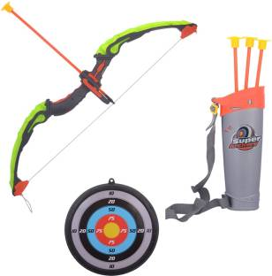Emob Crossbow & Arrow Action Shooting Toy Set With Laser Target And 3 Safe  Suction Arrows