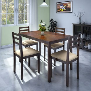 Ordinaire Perfect Homes By Flipkart Capri Rubber Wood 4 Seater Dining Set