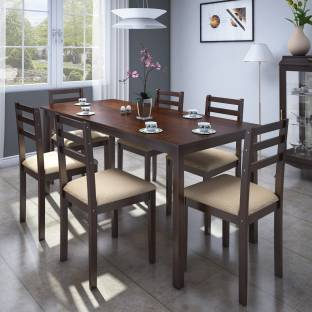 Perfect Homes By Flipkart Luzon Glass 4 Seater Dining Set