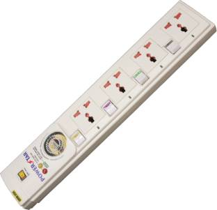 MX SPIKE &SURGE GUARD 6 Universal SOCKETS WITH FUSE & 1 5