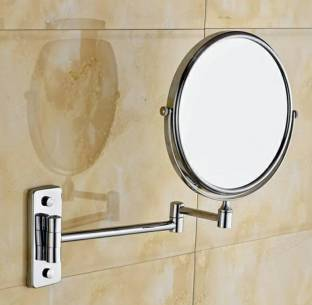 Eco 8inch Wall Mounted Double Side Normal 10x Magnification Makeup Mirror For Bathroom Bedroom