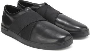 Clarks Stanway Easy Black Leather Casual For Men