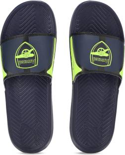 9f3bf9c6049a Puma POPCAT AFC Slippers - Buy Peacoat-Safety Yellow Color Puma ...