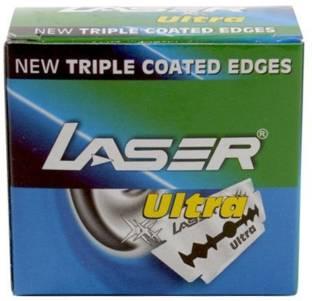 LASER 200 pcs Razor's Blades Sputtered Edges (10 tucks of 10 blades each)