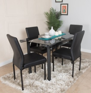 Furn Central Estela Solid Wood 4 Seater Dining Set