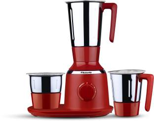 Butterfly Spectra Red 750 W Mixer Grinder (3 Jars, Red)