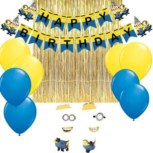 PARTY PROPZ MINION BIRTHDAY COMBO PACK OF 38 DECORATION