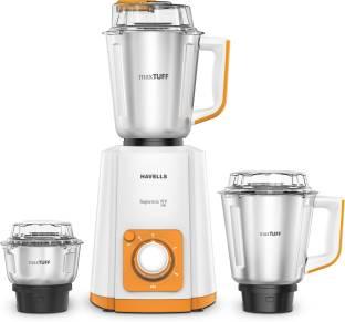 HAVELLS Super Mix Nv 500 W Mixer Grinder (3 Jars, Orange)