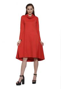 Women One Piece Orange Asymetric Party Dress At Rs 799