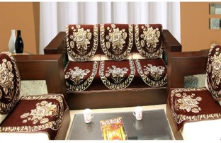 Zesture Jacquard Sofa Cover Price in India Buy Zesture Jacquard