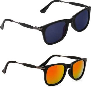 782aaf3c49 Buy RB Wayfarer Sunglasses Blue For Men   Women Online   Best Prices ...