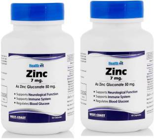 Healthvit Zinc Sulphate 50mg 60 Tablets Price In India Buy