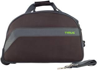 046b3a8171f5 TIMUS BOLT 55 CM COFFEE 2 WHEEL DUFFLE FOR TRAVEL - CABIN LUGGAGE Duffel  Strolley Bag