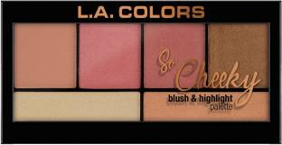 L.A. COLORS So Cheeky Blush and Highlight Palette - Highlighter