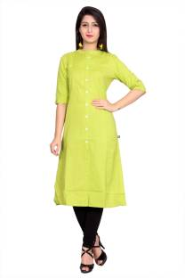 Metro Fashion Solid Women Frontslit Kurta