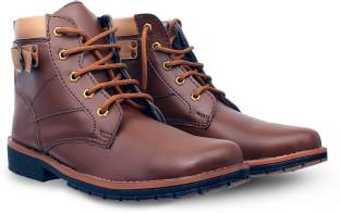 bb6b54d063a GBX Boots For Men - Buy Brown Color GBX Boots For Men Online at Best ...