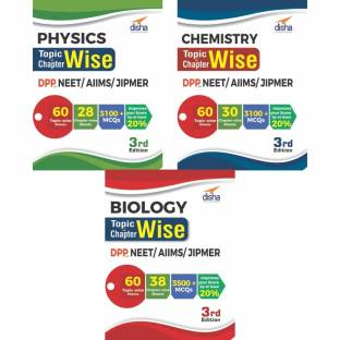 Physics, Chemistry & Biology Topic-Wise & Chapter-Wise Dpp (Daily Practice Problem) Sheets for Neet/Aiims/Jipmer