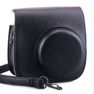 Caiul Pu Leather Fuji Instax Mini 9, Mini 8 Case Black  Camera Bag