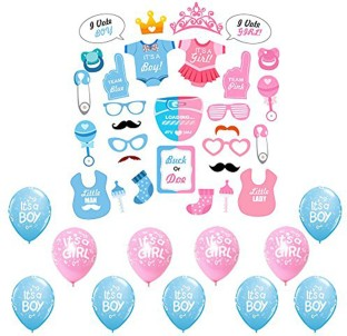 Party Propz Baby Shower Decoration (STO2197+BABPO09+Mom to