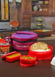 Signoraware Classic Lunch  Sappire  with Bag 3 Containers Lunch Box