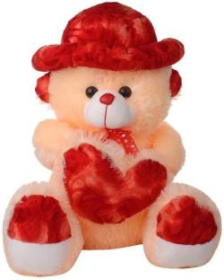 Attractive 3 FEET SEATING TEDDY BEAR WITH CAP ( MADE IN INDIA ) - 36 inch (CREAM)  - 36 inch