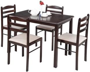 royaloak hunter solid wood 4 seater dining set