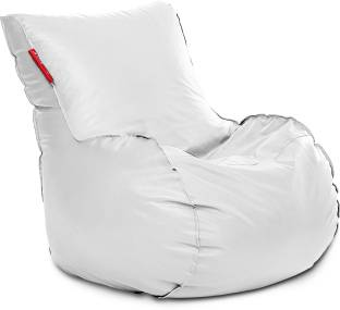 Style Homez XXXL Mambo Bean Bag Size Elegant White With Beans Lounger