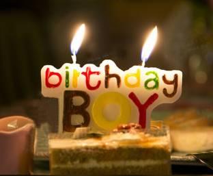 Indigo Creatives Additonal Special Birthday Boy Logo Cake Candle