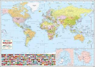 Indian political map hindi vinyl print wall chart jan 01 world map vinyl fine art print gumiabroncs Choice Image